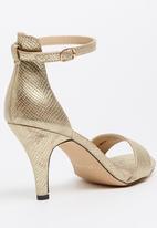 Bata - Ankle-strap Heels Gold