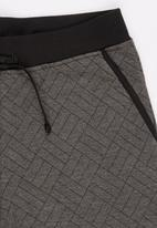 Rebel Republic - Quilted Shorts Grey