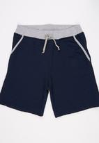 Rebel Republic - Quilted Shorts Navy