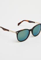 Diesel  - Tortoise Shell Round Sunglasses -Mid Brown