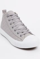 Tom Tom - Quilted High-top Sneakers Grey