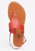 edit - Leather Slingback Sandals Red