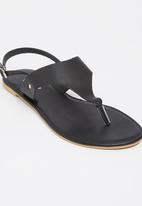edit - Leather Slingback Sandals Black