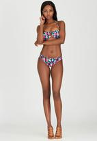 London Hub - Cut-Out Detail Bandeau Bikini Multi-colour