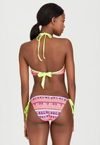 London Hub - Aztec High-Neck Bikini Set Multi-colour