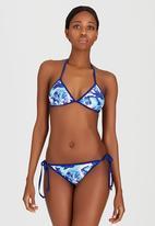 London Hub - Leaf Side-Tie Bikini Set Multi-colour