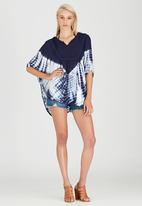 London Hub - Batwing Top with Lace Detail Navy