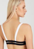 London Hub - Double Strap Bikini Set Black and White