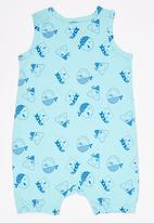 Soobe - Boys  Printed Romper Turquoise
