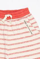 Soobe - Stripe Shorts Red