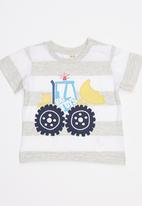 Soobe - Printed Tractor  Tee Grey Melange