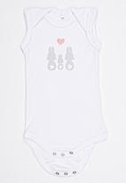 Pickalilly - Sleeveless Baby Grow And Skirt Set Pale Pink