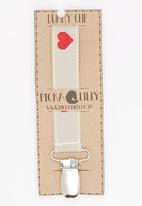 Pickalilly - Heart Dummy Clip Grey