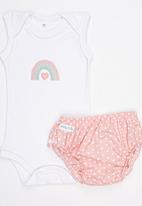 Pickalilly - Sleeveless Baby Grow Set Multi-colour