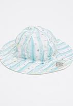 Myang - Floral Stripe Hat Multi-colour
