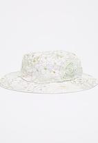 Myang - Wide Brim Floral  Hat Multi-colour