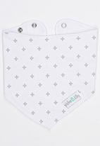 Pickalilly - Bib With Cross Print White