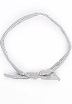Pickalilly - Knotted Head Band With Triangle Print Grey