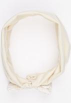 Myang - Lace Bow Headband Cream