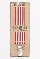 Pickalilly - Stripe  Dummy Clip Red