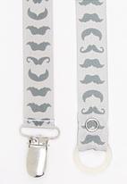 Pickalilly - Moustaches  Dummy Clip Grey
