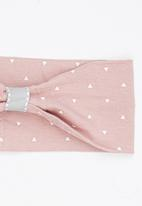 Pickalilly - Girls Printed Head Band Pale Pink