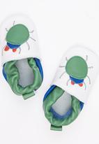 shooshoos - Green Beetle Pull On White