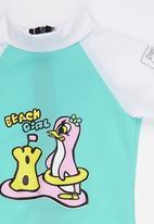 Sun Kids - Beach Girl Sun Suit Mid Green