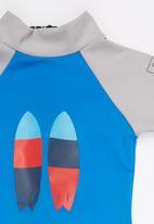 Sun Kids - Twin Fin Sun Suit Mid Blue