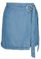 Sassoon - I Spy Eyelet Skirt Mid Blue