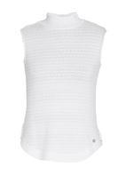 Sassoon - Hutton Knitted Polo Neck Tank White