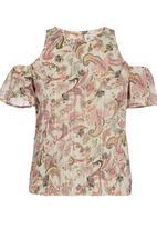Sassoon - Dreamer Cold-shoulder Top Mid Pink