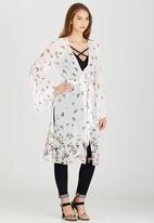 STYLE REPUBLIC - Bell Sleeve Cover Up Multi-colour