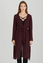 STYLE REPUBLIC - Bell Sleeve Cover Up Dark Purple