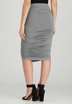 STYLE REPUBLIC - Bodycon Midi Skirt Grey Melange