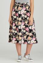 STYLE REPUBLIC - Floral Midi Skirt Multi-colour