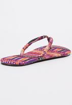 Joy Collectables - Tribal Print Flip-flops Multi-colour
