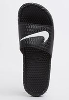 7e5c4935bfc63 Rio16 Benassi Swoosh Sandals Black Nike Trainers