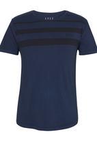 S.P.C.C. - Ascending Line Detail T-Shirt Navy