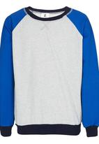 Rebel Republic - Colourblock Sweater Blue