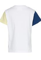 See-Saw - Colourblock T-shirt with Print Yellow