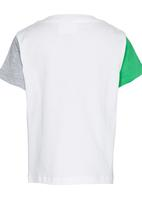 See-Saw - Colourblock T-shirt with Print Green
