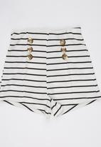 See-Saw - Stretch Pull-on Nautical Shorts White