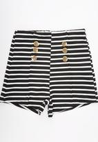 See-Saw - Stretch Pull-on Nautical Shorts Black