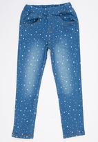 POP CANDY - Printed Jeans Mid Blue