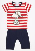 POP CANDY - 2 Piece Printed Snoopy Set Red