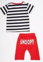 POP CANDY - 2 Piece Printed Snoopy Set Navy
