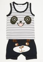 POP CANDY - 2 Piece Printed Panda Set Multi-colour