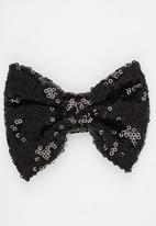 POP CANDY - Sparkled Bow Clip Black