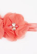 POP CANDY - Flower  Headband Coral